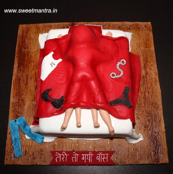 Couple having sex theme adult cake for hens party in Pune