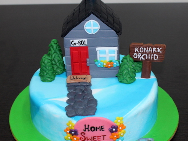 New home theme cake for house warming ceremony in Pune