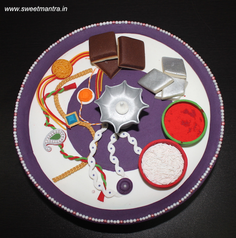 Indian festival Rakhi theme customized cake in Pune