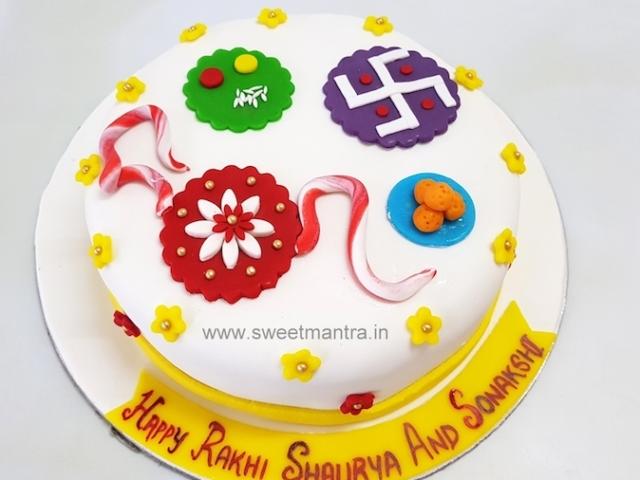 Indian festival Rakshabandhan theme fondant cake in Pune