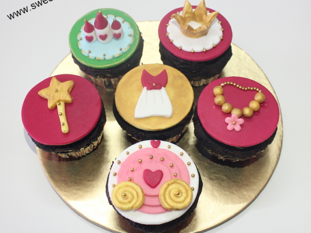 Barbie theme fondant cupcakes for kids birthday in Pune