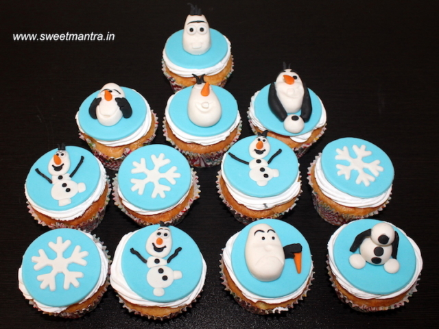 Frozen, Olaf theme cupcakes for kids birthday in Pune