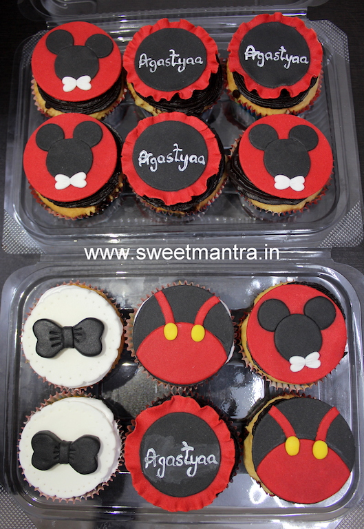 Mickey theme cupcakes for kids 1st birthday in Pune