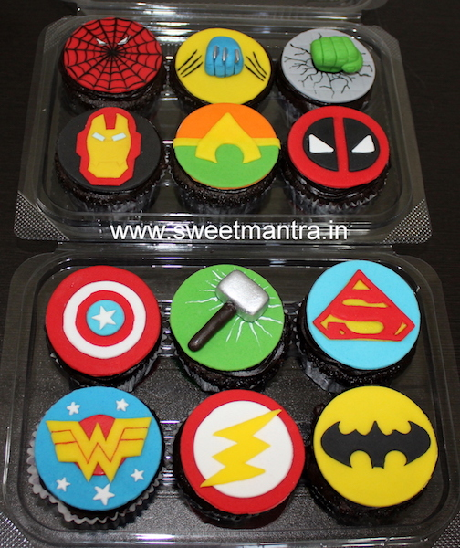 Avengers, Superheroes theme cupcakes for kids in Pune