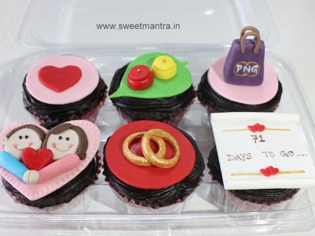 Wedding theme designer fondant cupcakes in Pune