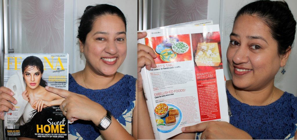Sweet Mantra's Misal Pav cake featured in FEMINA Magazine - Sep 2017