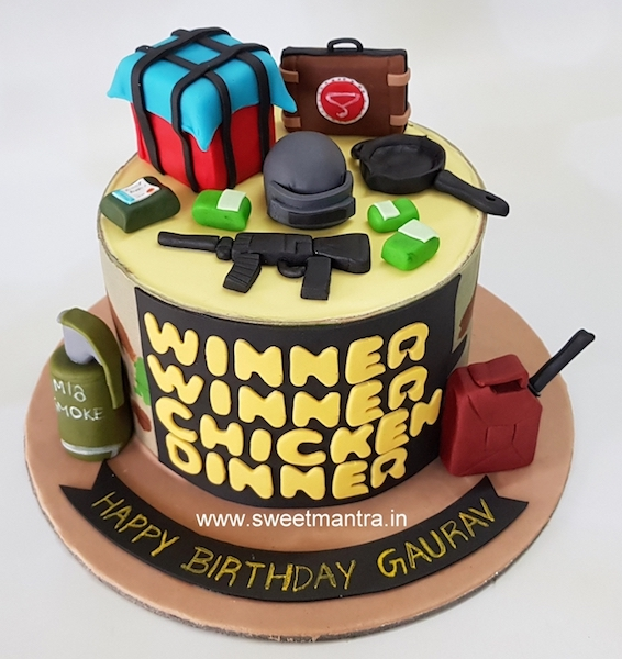 Order Ps4 Pubg Football Cake In Pune Sweet Mantra