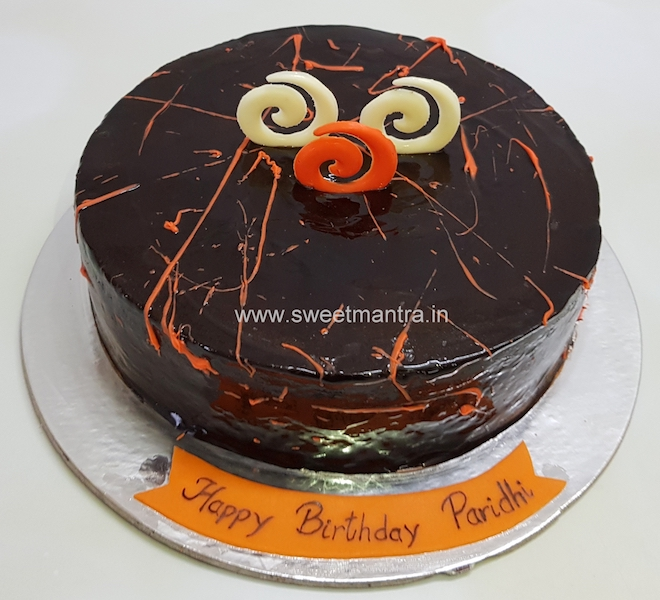 Homemade, eggless Chocolate Orange cake in Pune