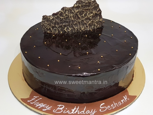 Homemade, eggless Chocolate Truffle cake in Pune