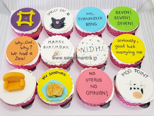 FRIENDS tv series theme customised cupcakes in Pune