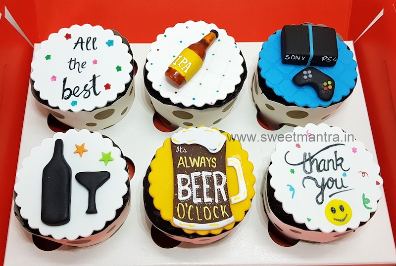 Farewell theme customised cupcakes in Pune