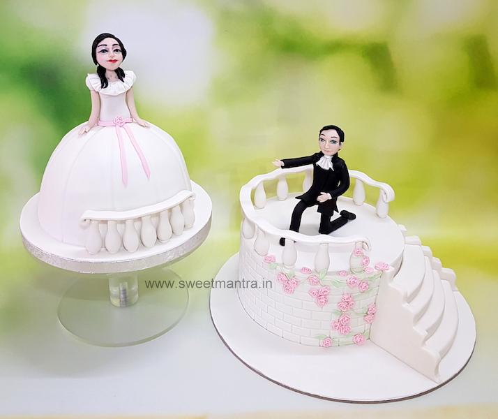 Engagement theme customised cake in Pune